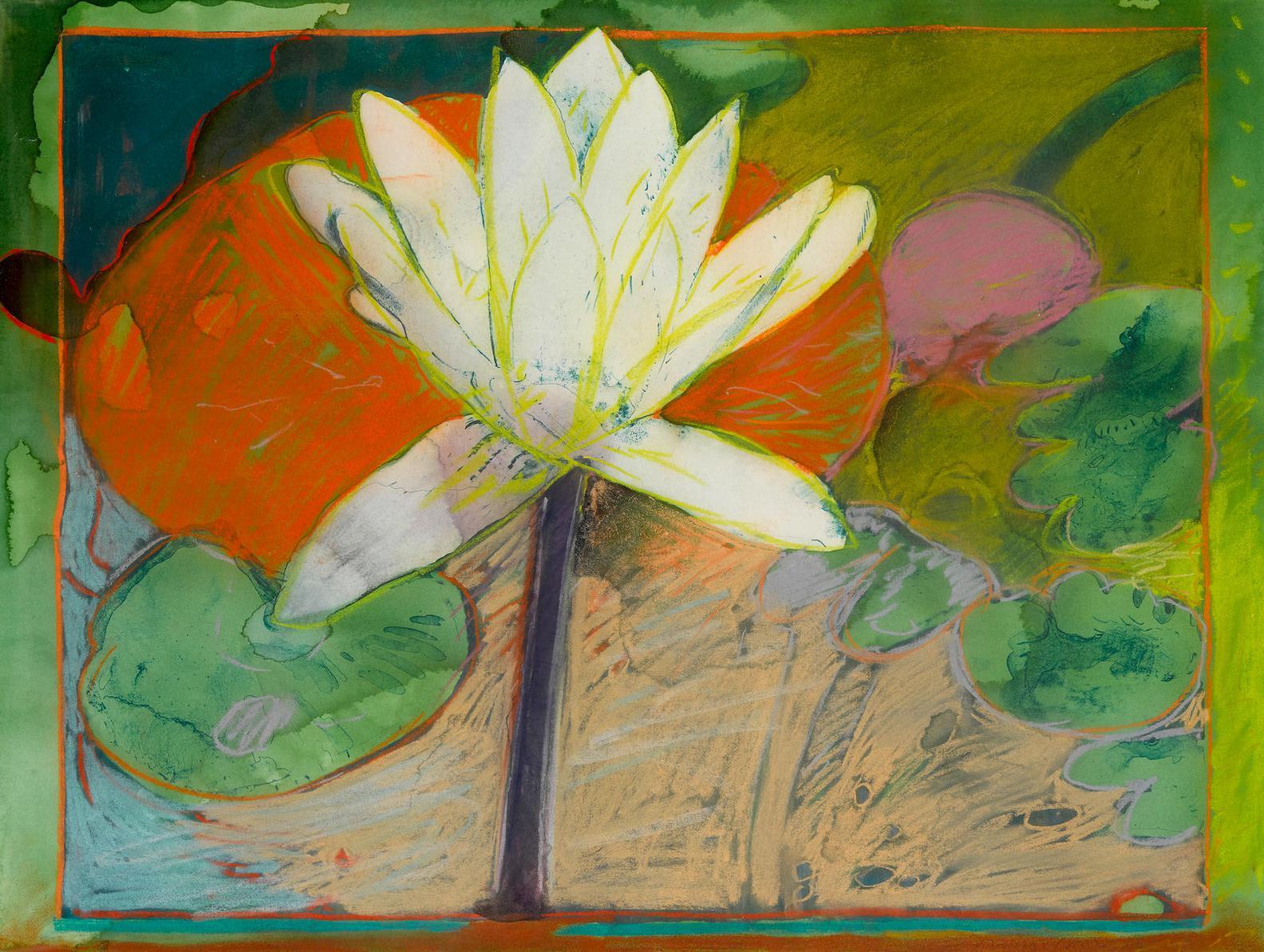 Joseph Raffael-Blue Lily-1982