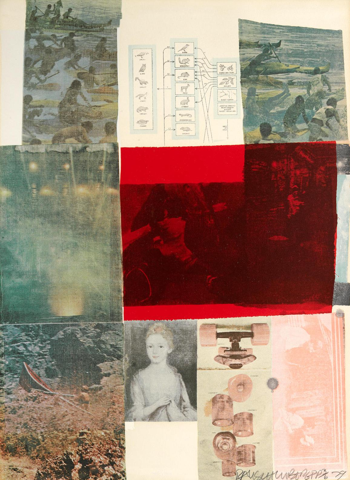Robert Rauschenberg-From The Seat Of Authority, From The Suite Of Nine Prints-1979