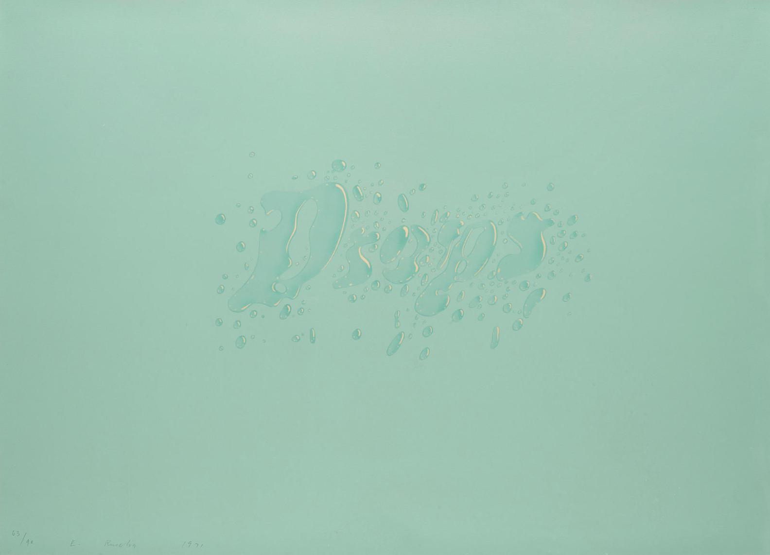 Ed Ruscha-Drops (E. 54)-1971