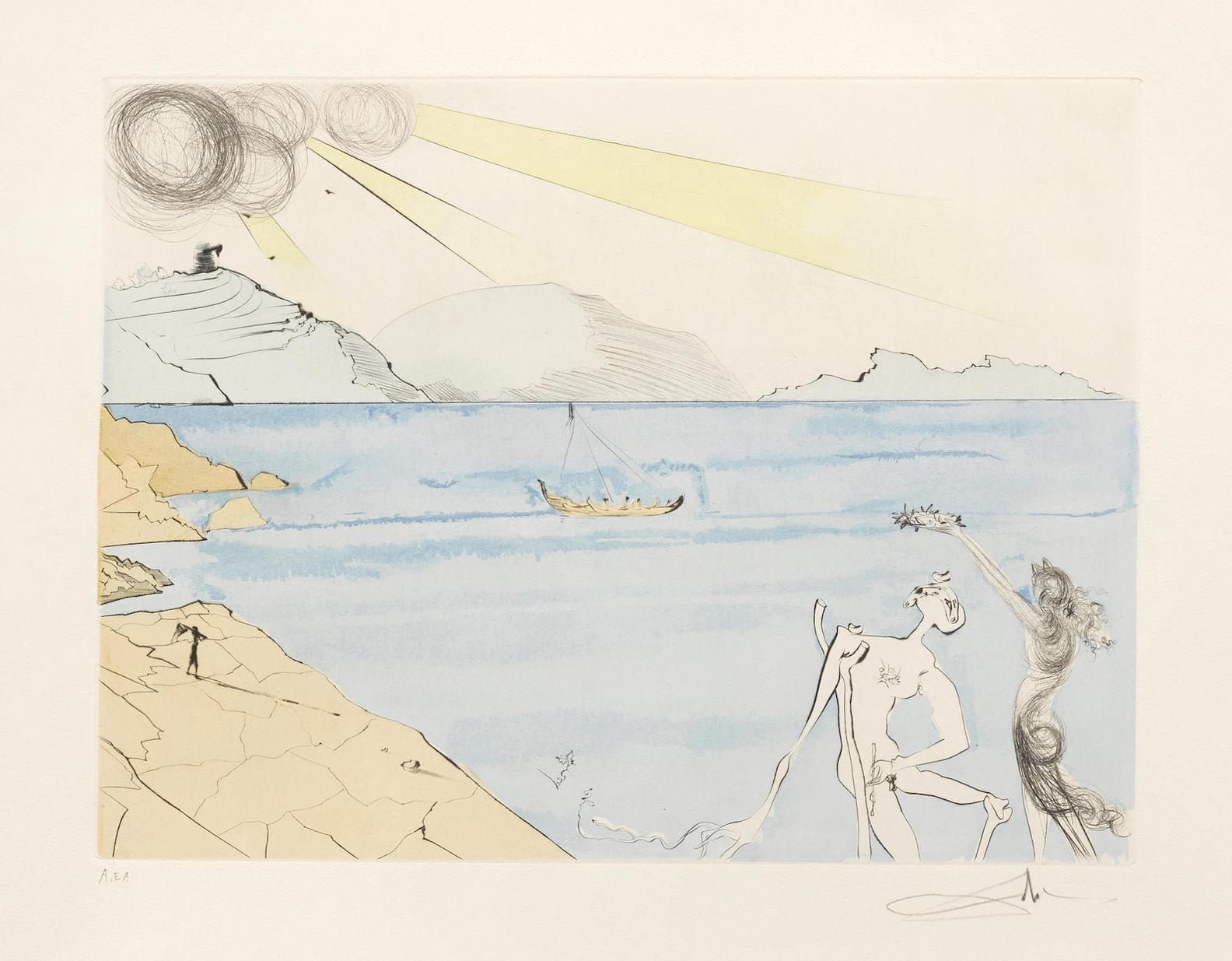 Salvador Dali-The Laurels Of Happiness; From After 50 Years Of Surrealism (F. 74-8D)-1974