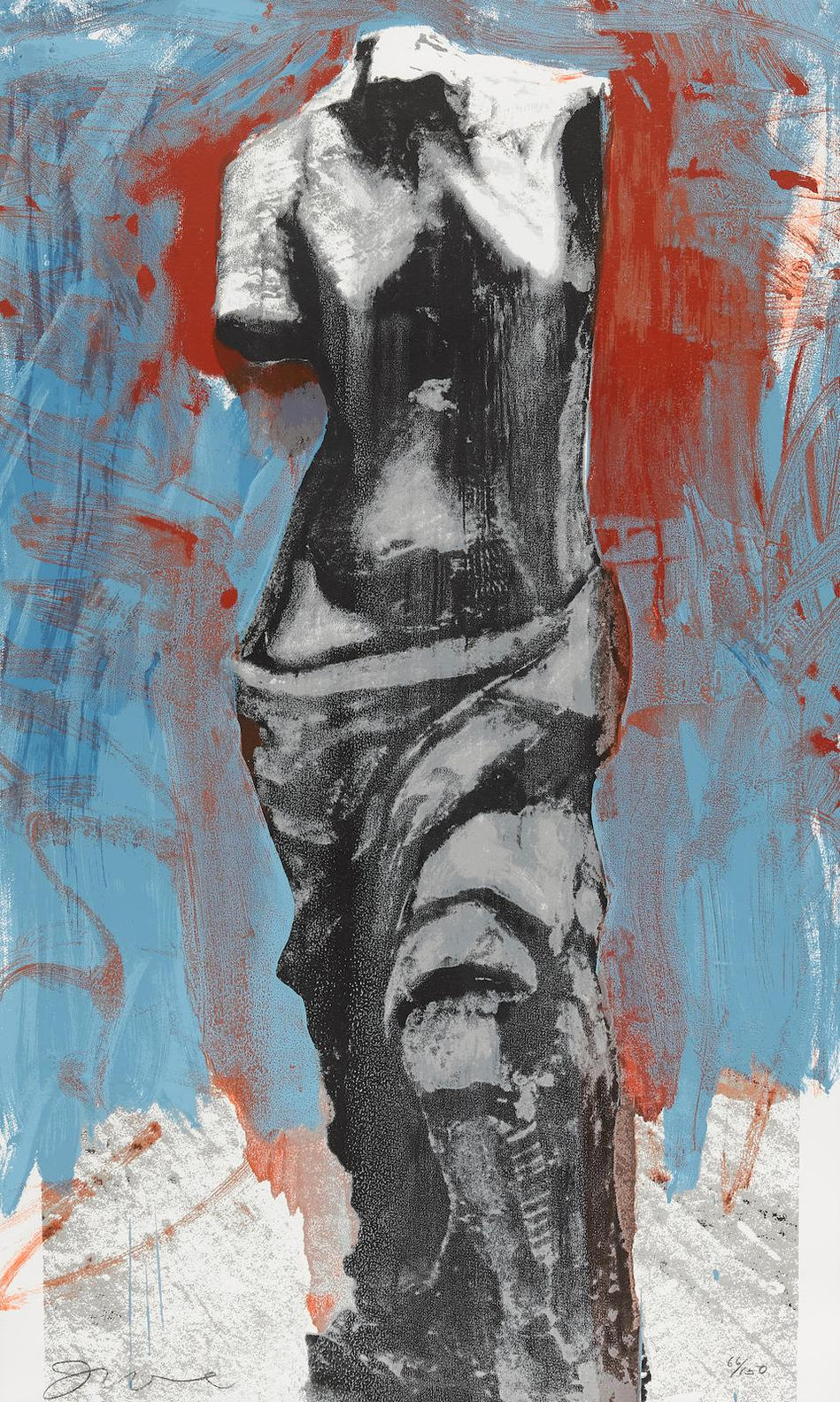Jim Dine-The Red, White, And Blue Venus For Mondale (D.&F.; 182)-1984