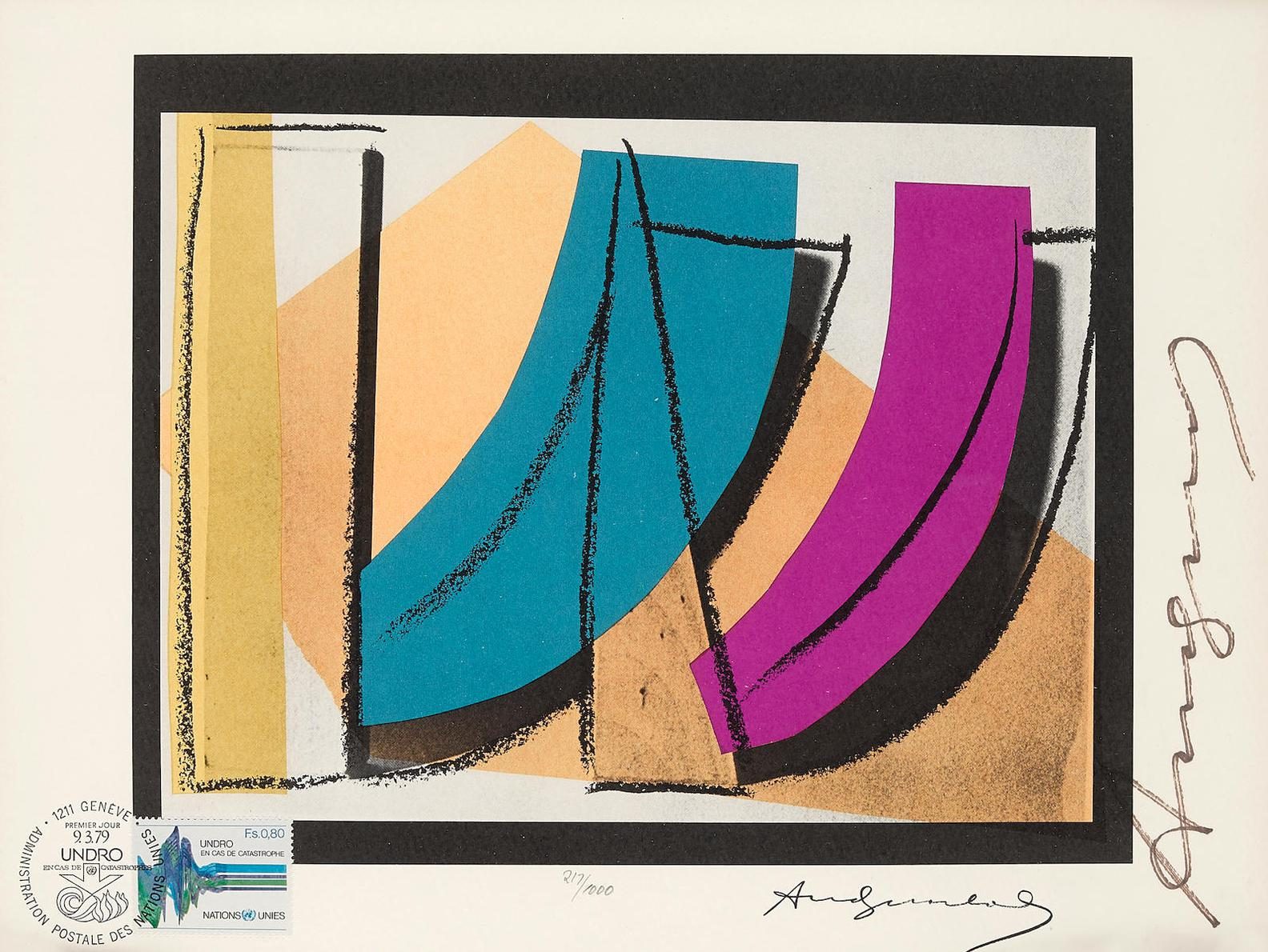 Andy Warhol-U.N. Stamp (F./S. II. 185)-1979