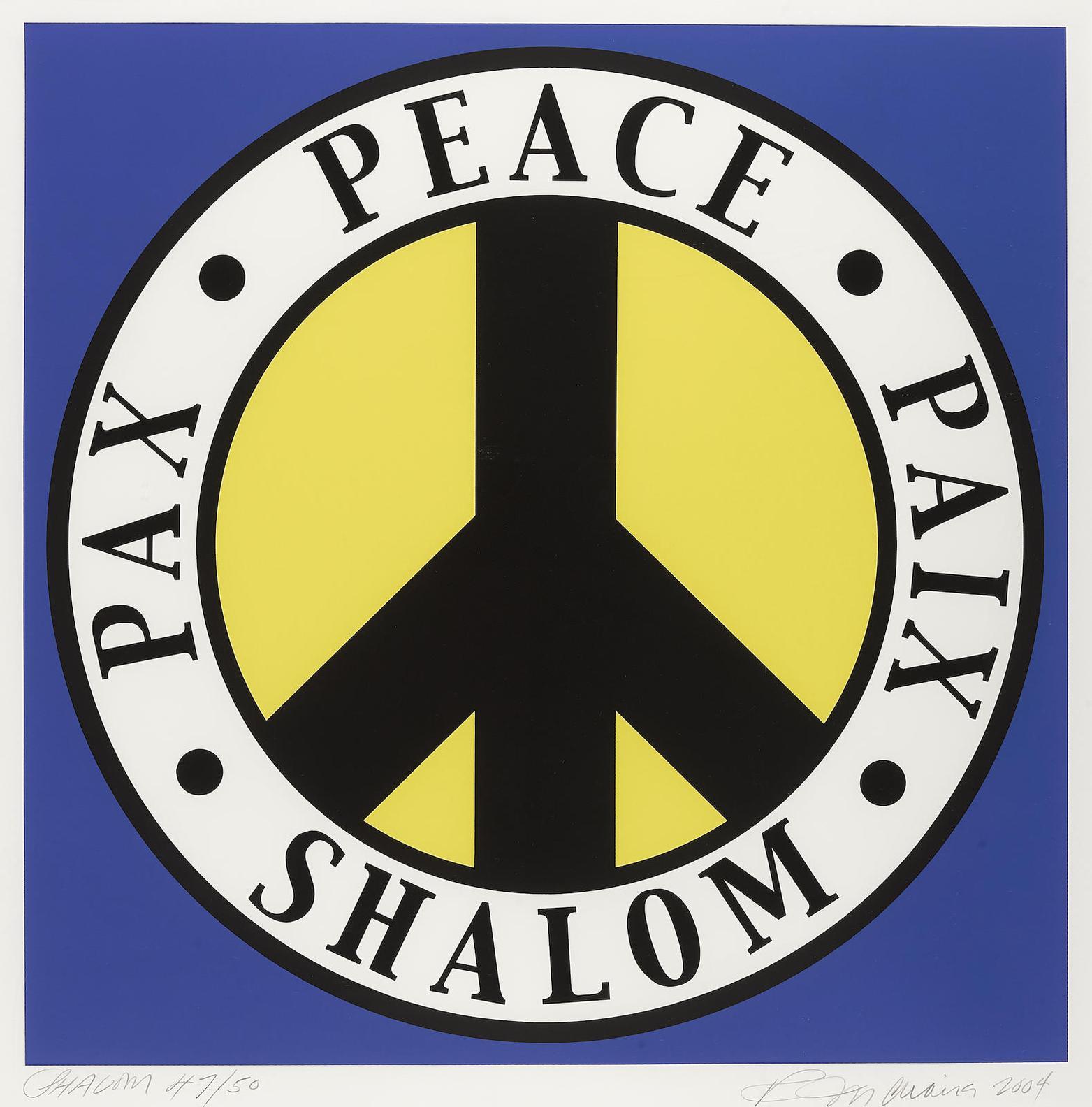 Robert Indiana-The Tel Aviv Peace-2004