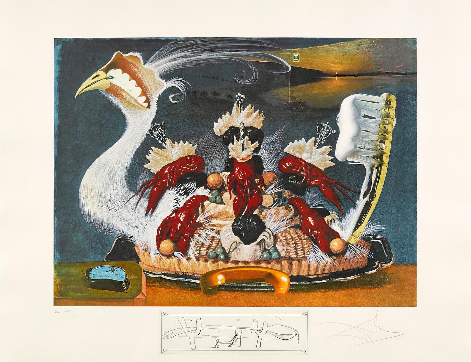 Salvador Dali-Les Diners De Gala (F. 77-5 )-1971