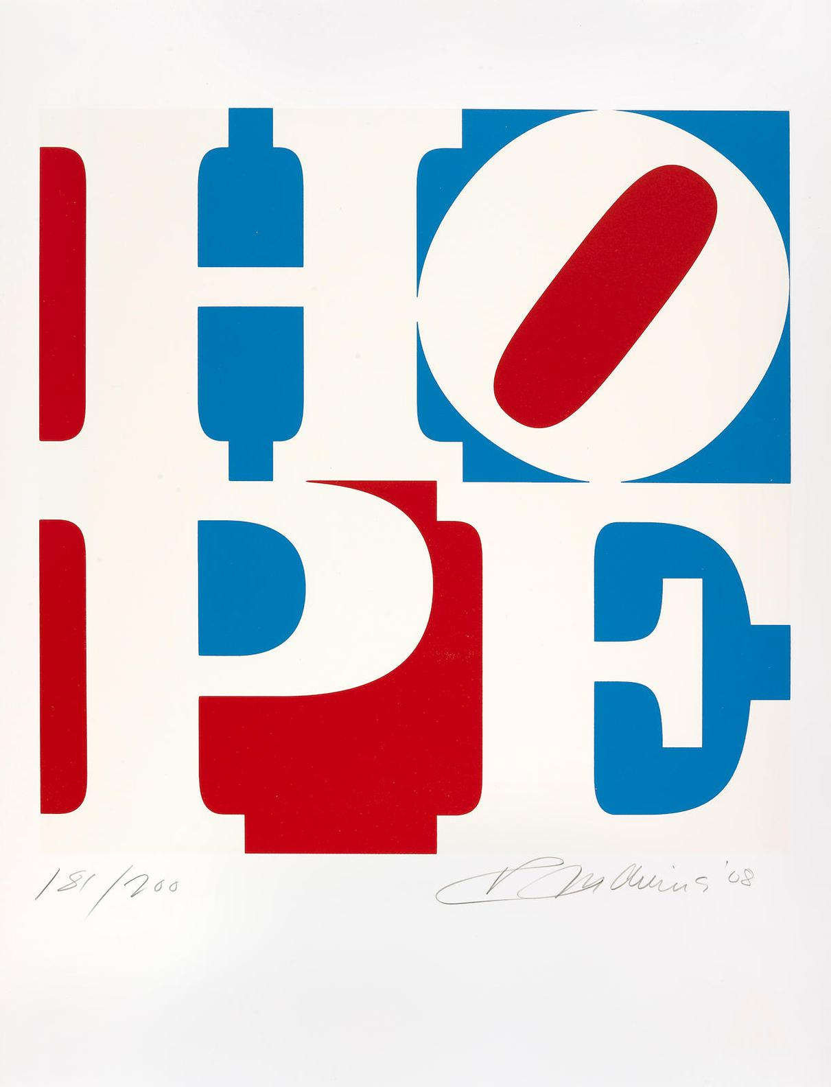 Robert Indiana-Hope (Red, White And Blue)-2008