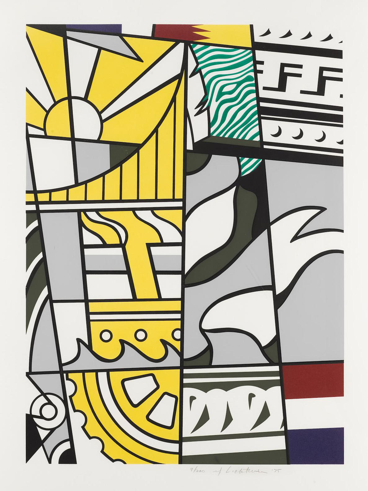 Roy Lichtenstein-Bicentennial Print, From American Portrait 1776-1976 Bicentennial Portfolio (C. 136), 1975-6-1976