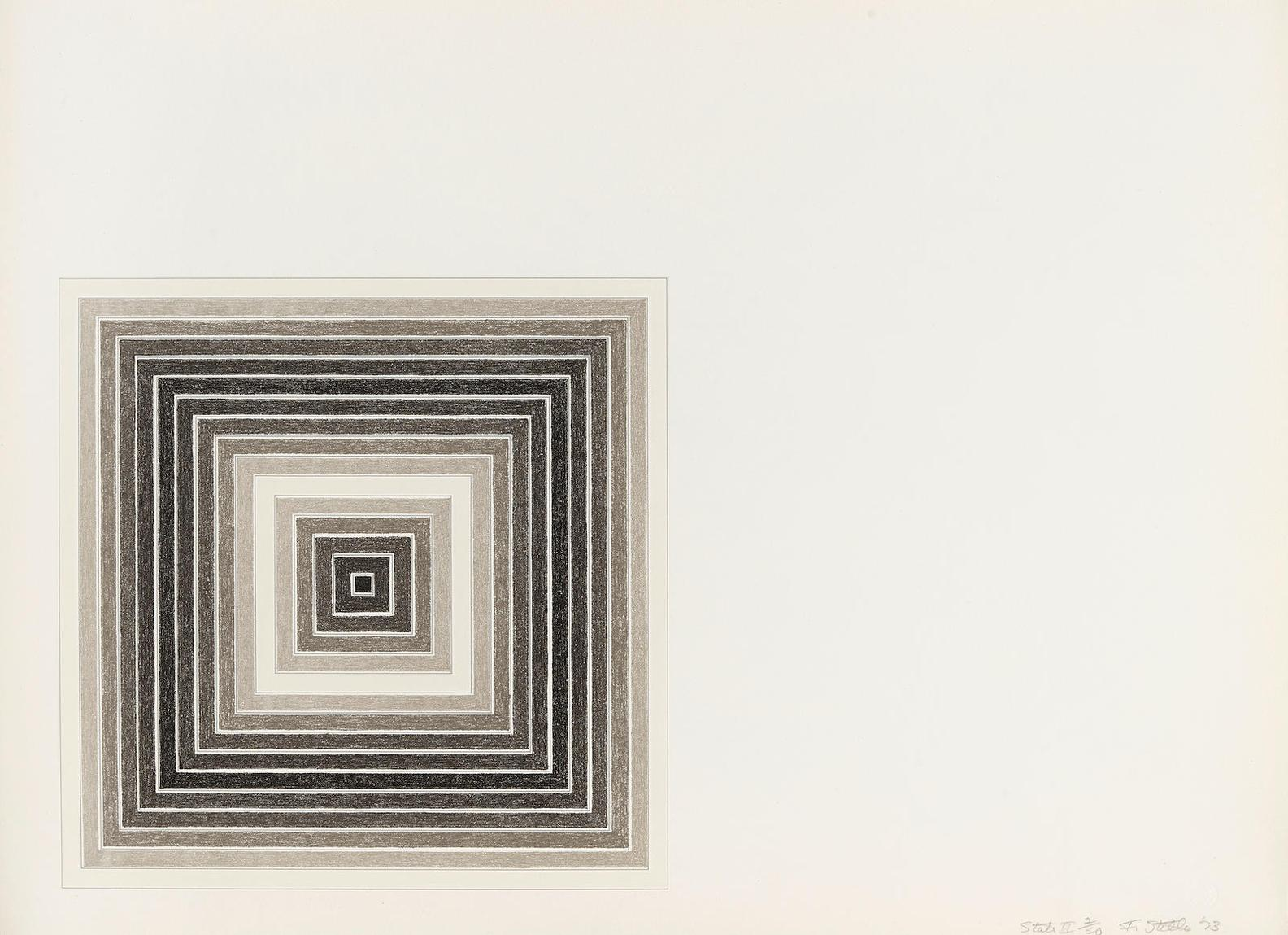 Frank Stella-Sharpesville, From Multicolored Squares (A. 79A)-1973