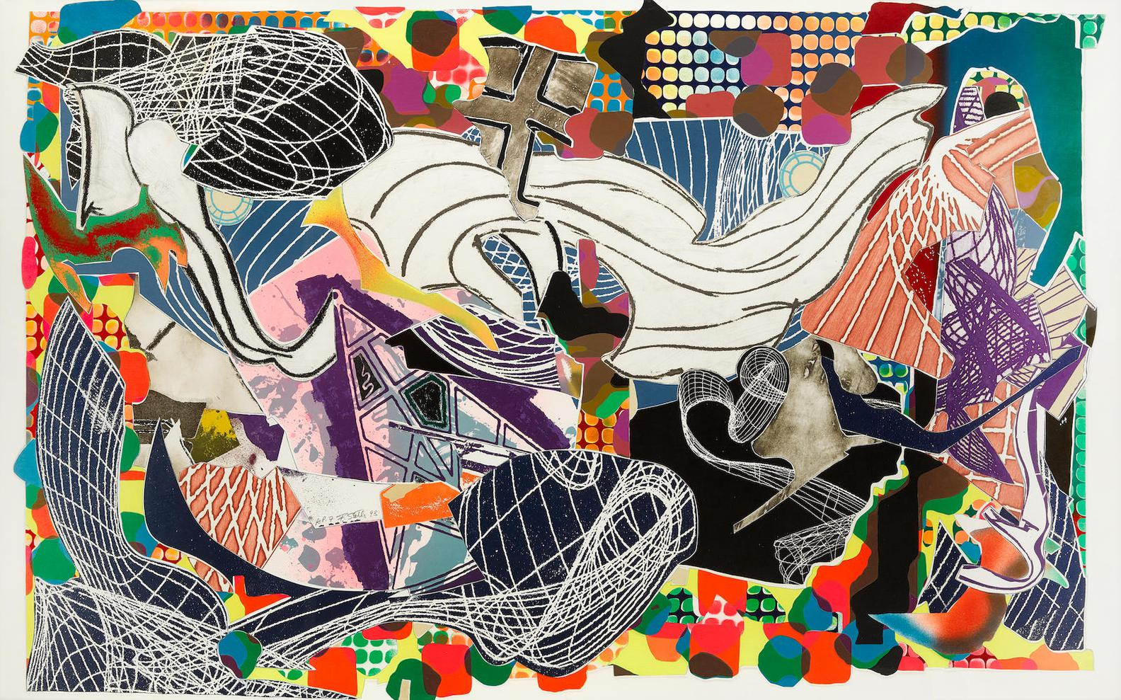Frank Stella-Monstrous Pictures Of Whales, From Moby Dick Deckle Edges (A. 215)-1993