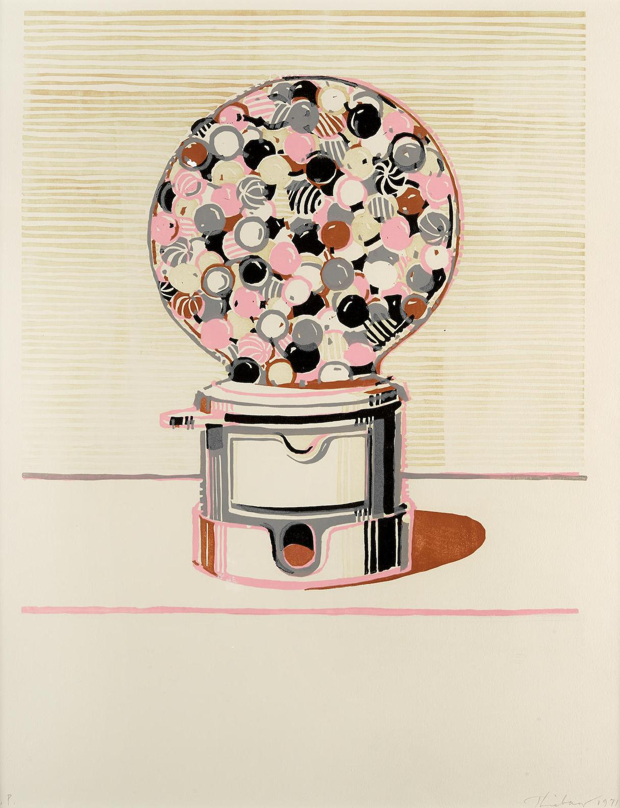 Wayne Thiebaud-Gumball Machine-1971