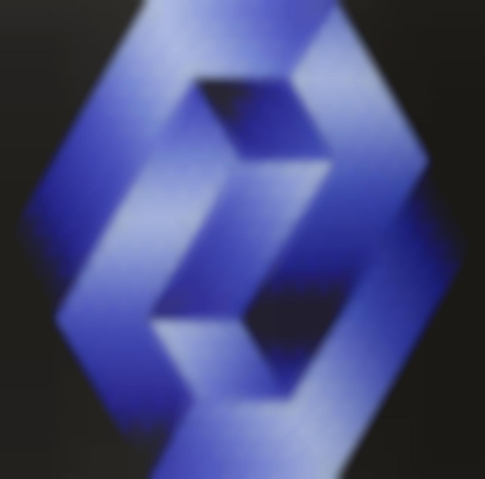 Victor Vasarely-Gestalt Blue; Untitled, 1970-1980