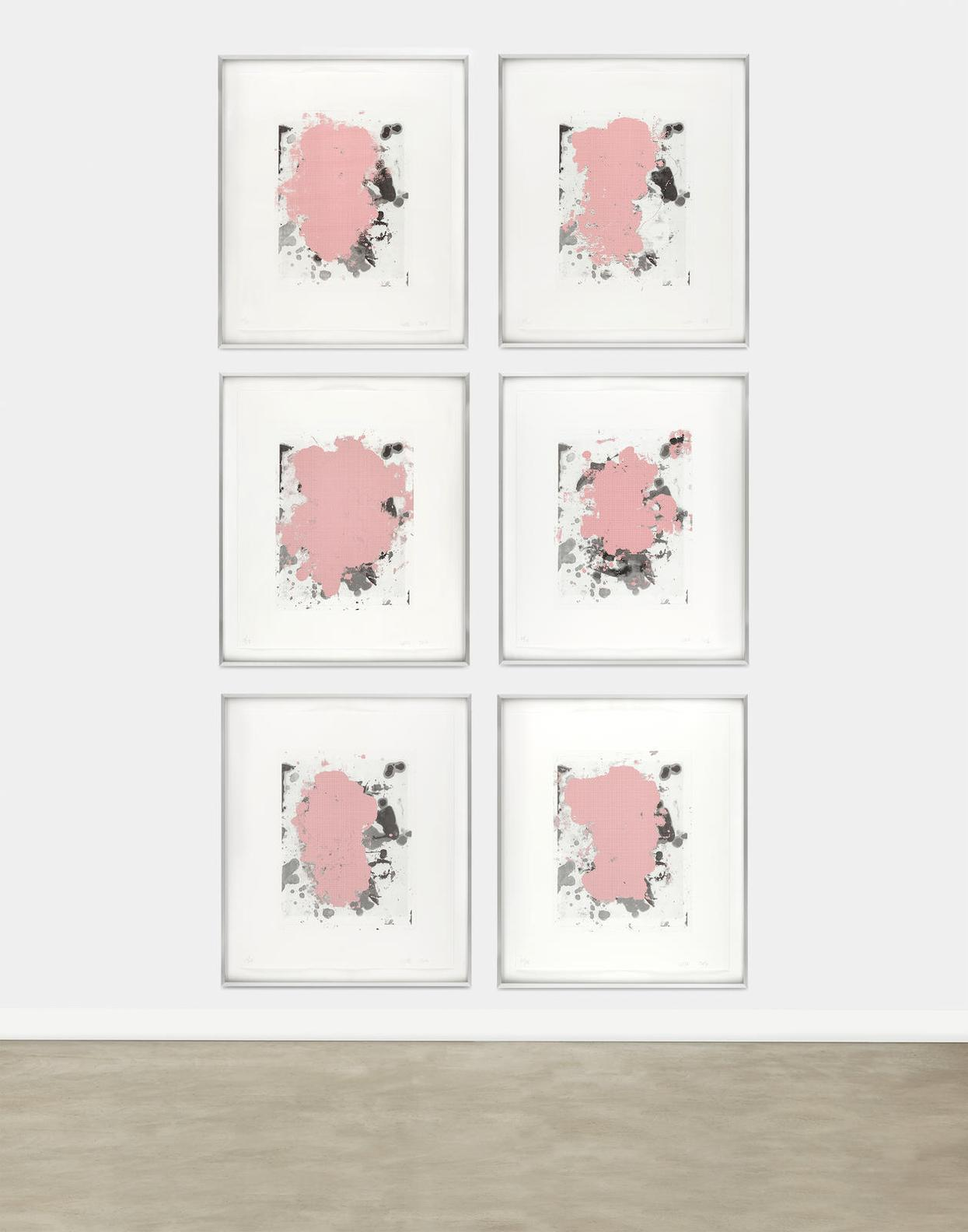 Christopher Wool-Portraits (Red)-2014
