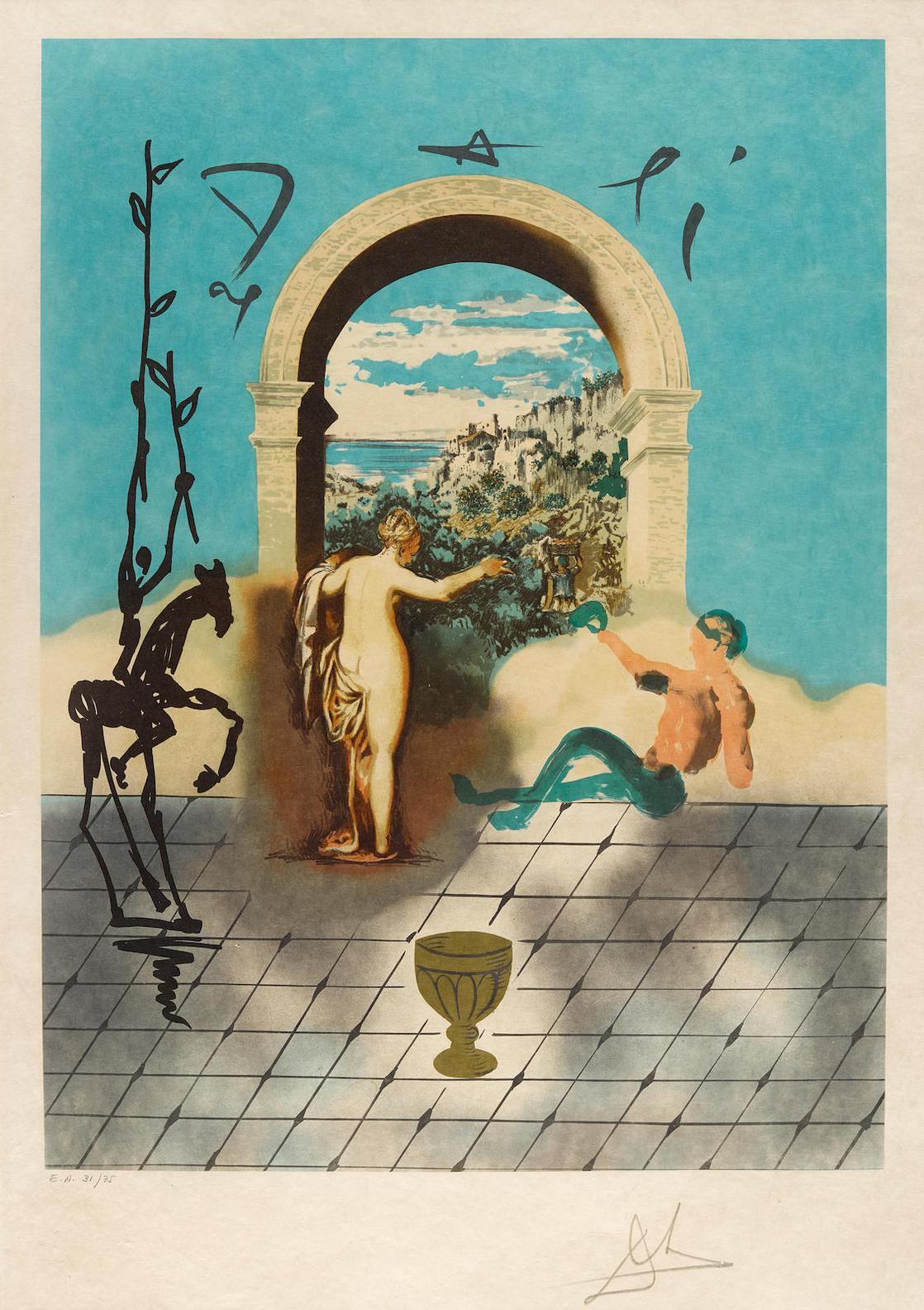 Salvador Dali-Gateway To The New World...From Dali Discovers America (Field 79-6B)-1979