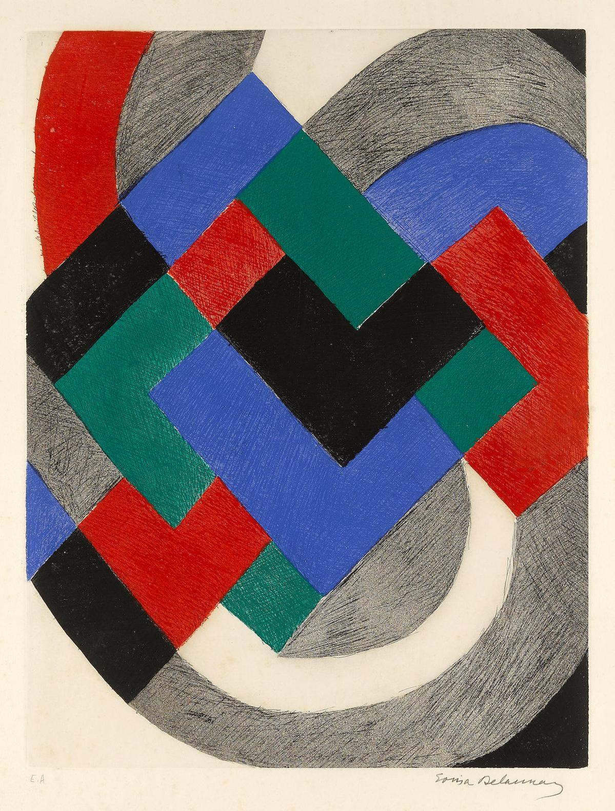 Sonia Delaunay-Untitled-1960