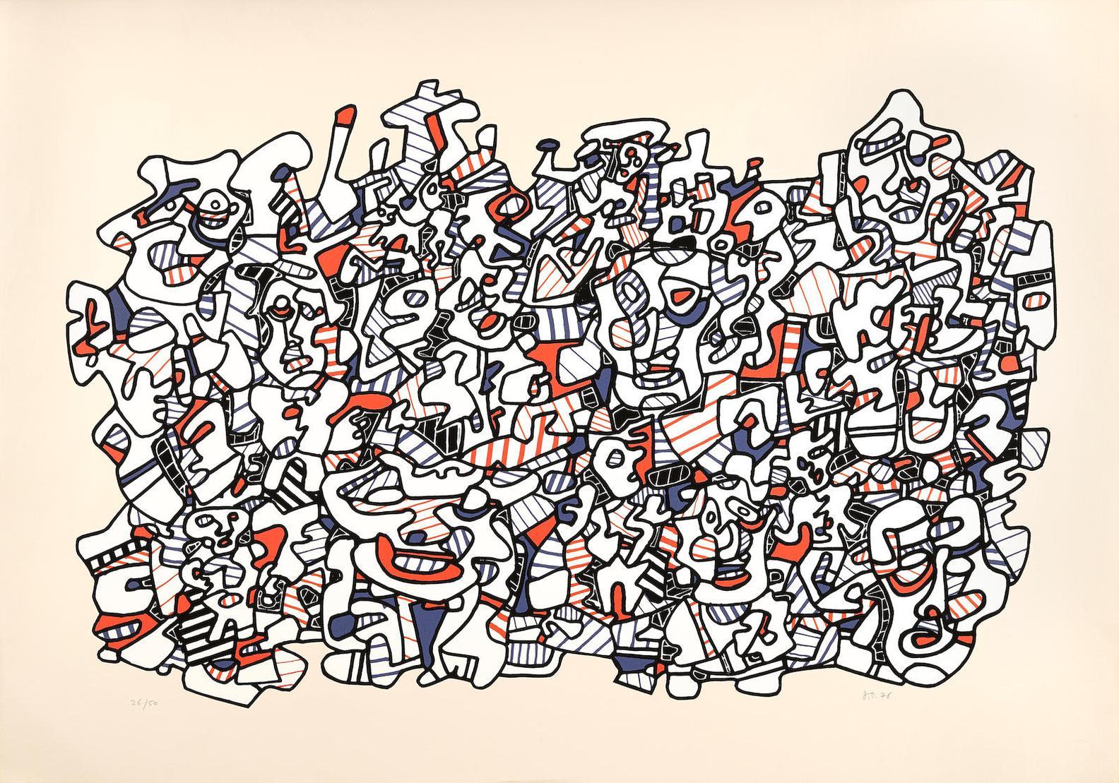 Jean Dubuffet-Site Populeux (W. 1174)-1976