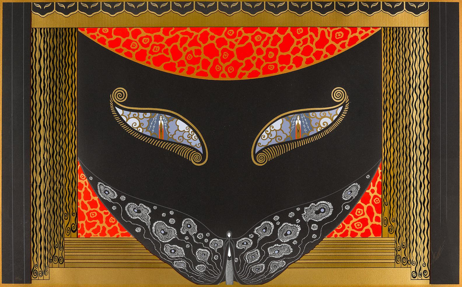 Erte-Eyes Of Jealousy, From Mysteries Through The Eyes Of The Mask Suite-1983