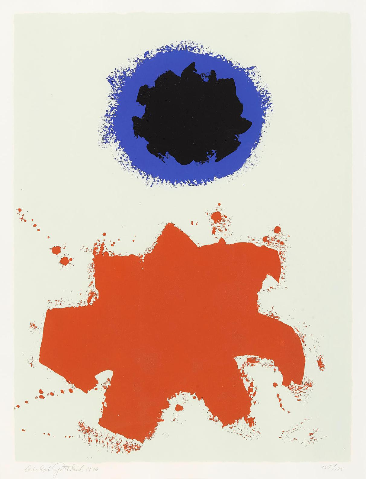 Adolph Gottlieb-Peace, From The Peace Portfolio (The Associated American Artists 67)-1970