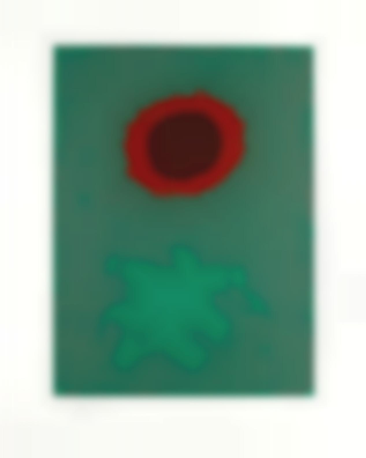Adolph Gottlieb-Chrome Green (Associated American Artists 75)-1972