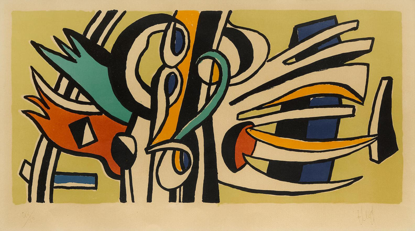 Fernand Leger-Composition Murale (S. 107)-1951