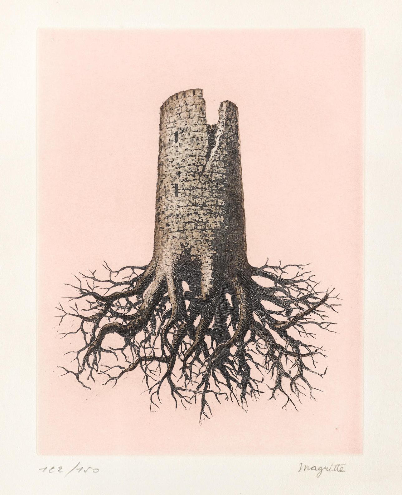 Rene Magritte-La Folie Almayer, Plate III, From Le Lien De Paille By Louis Scutenaire (K. & B.18 ), 1968-1968