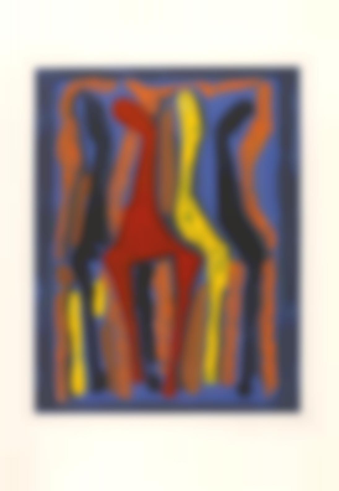 Marino Marini-Two Plates, From Marino From Goethe (G. A225; A228)-1979