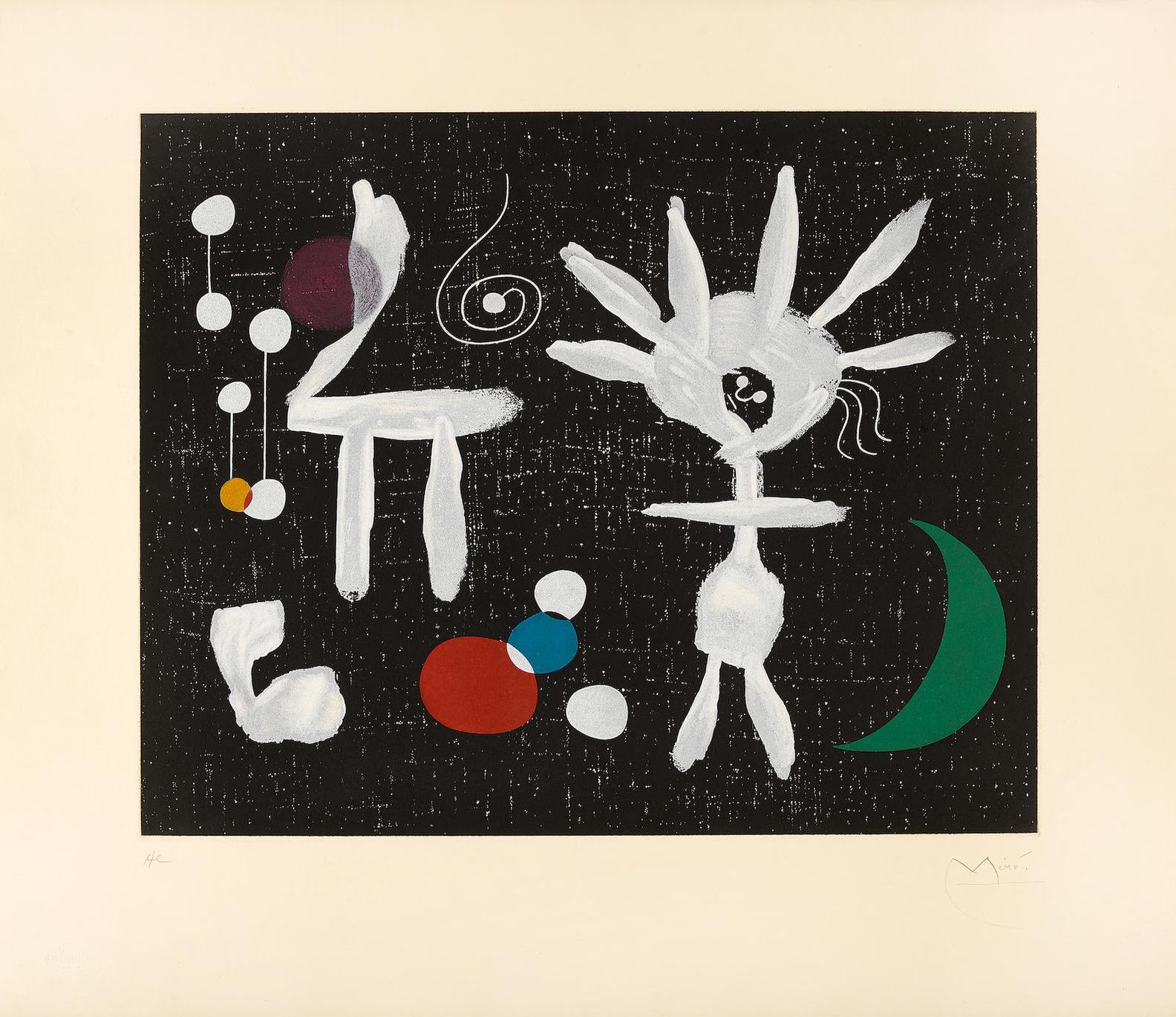 Joan Miro-After Joan Miro - Rose Matinale Au Claire De Lune (M. 1713)-1958