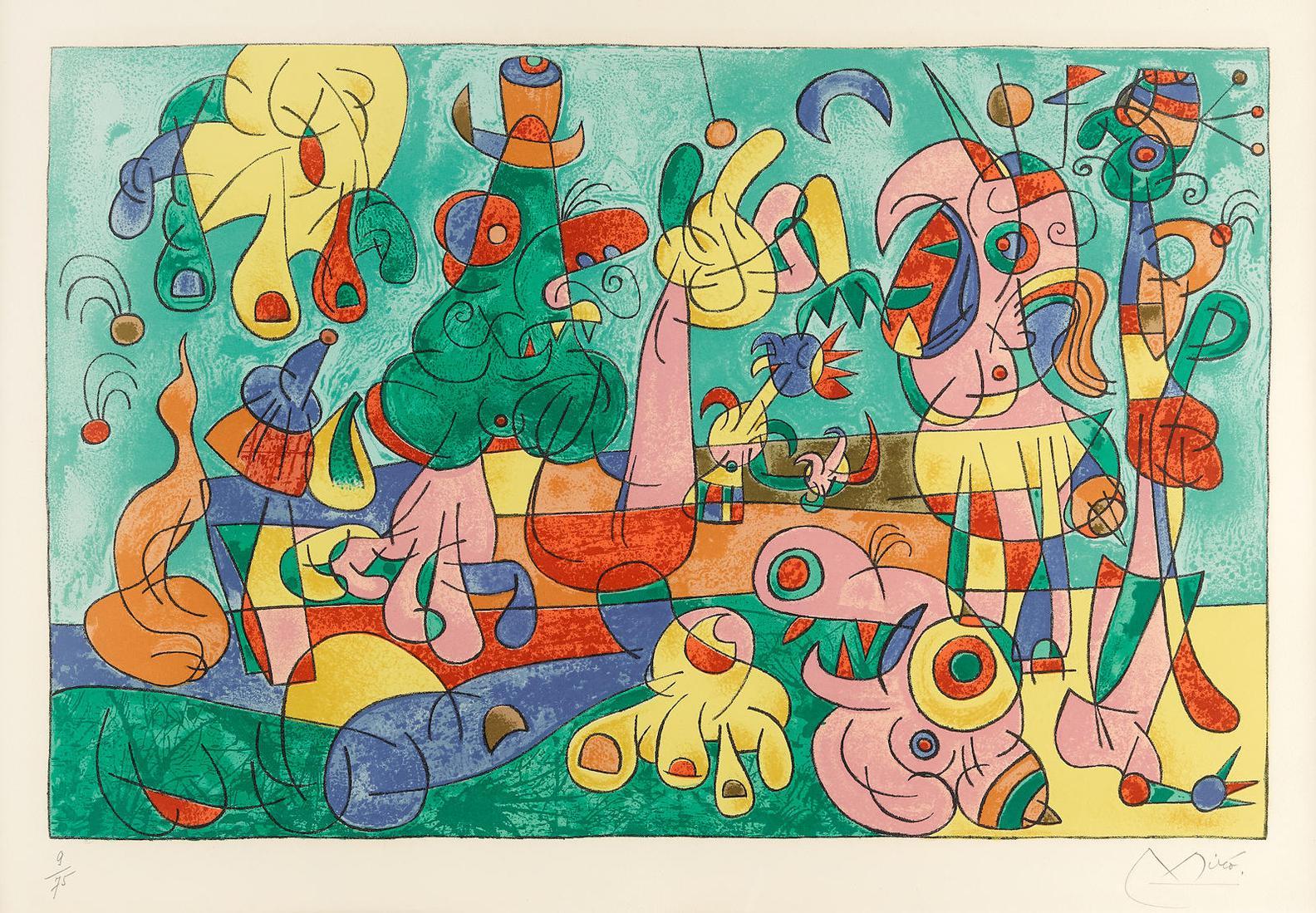 Joan Miro-Ubu Roi, Pl. II, From Ubu Roi (M. 465; C. 108)-1966