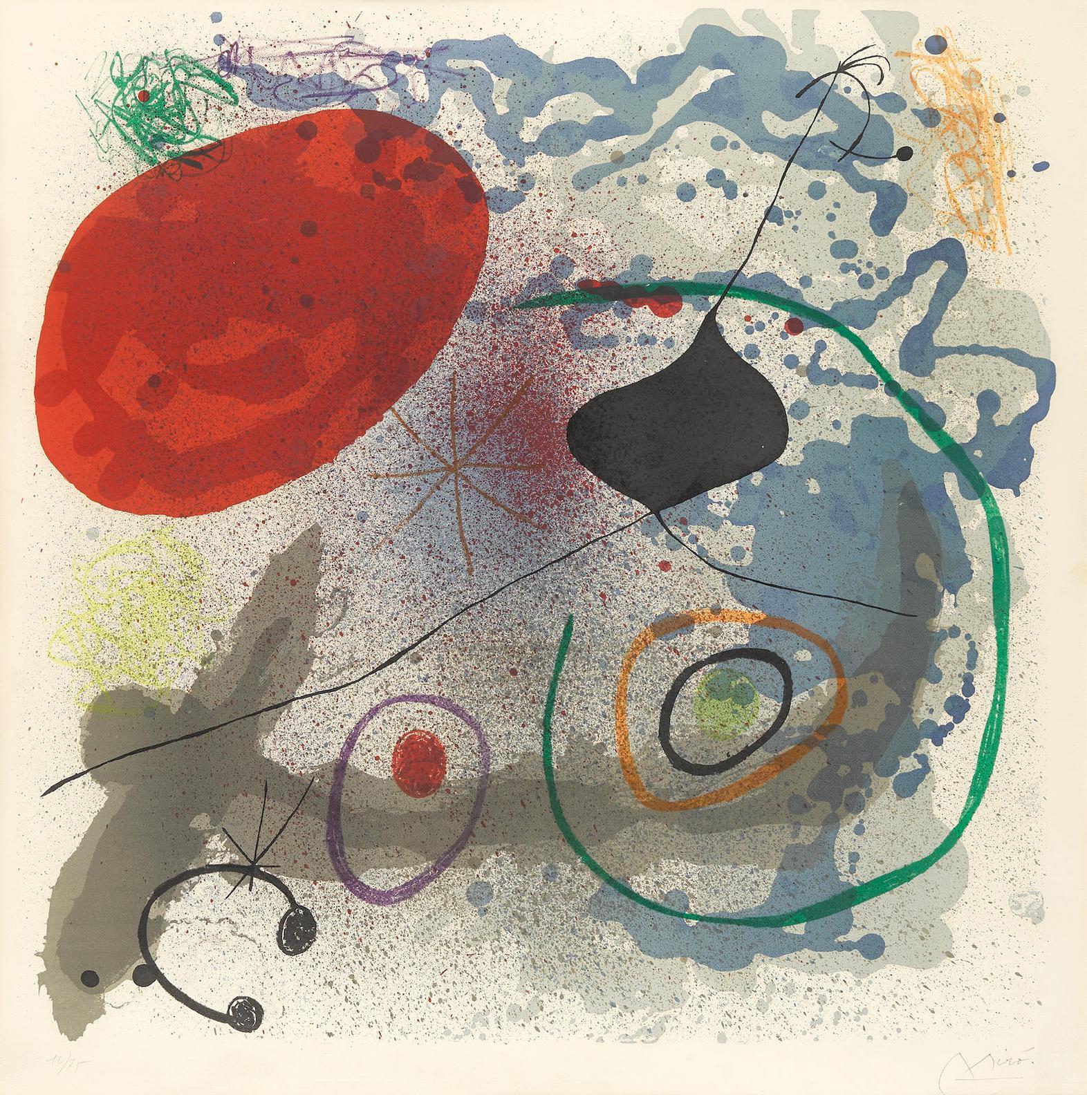 Joan Miro-Battements II (M. 501)-1968