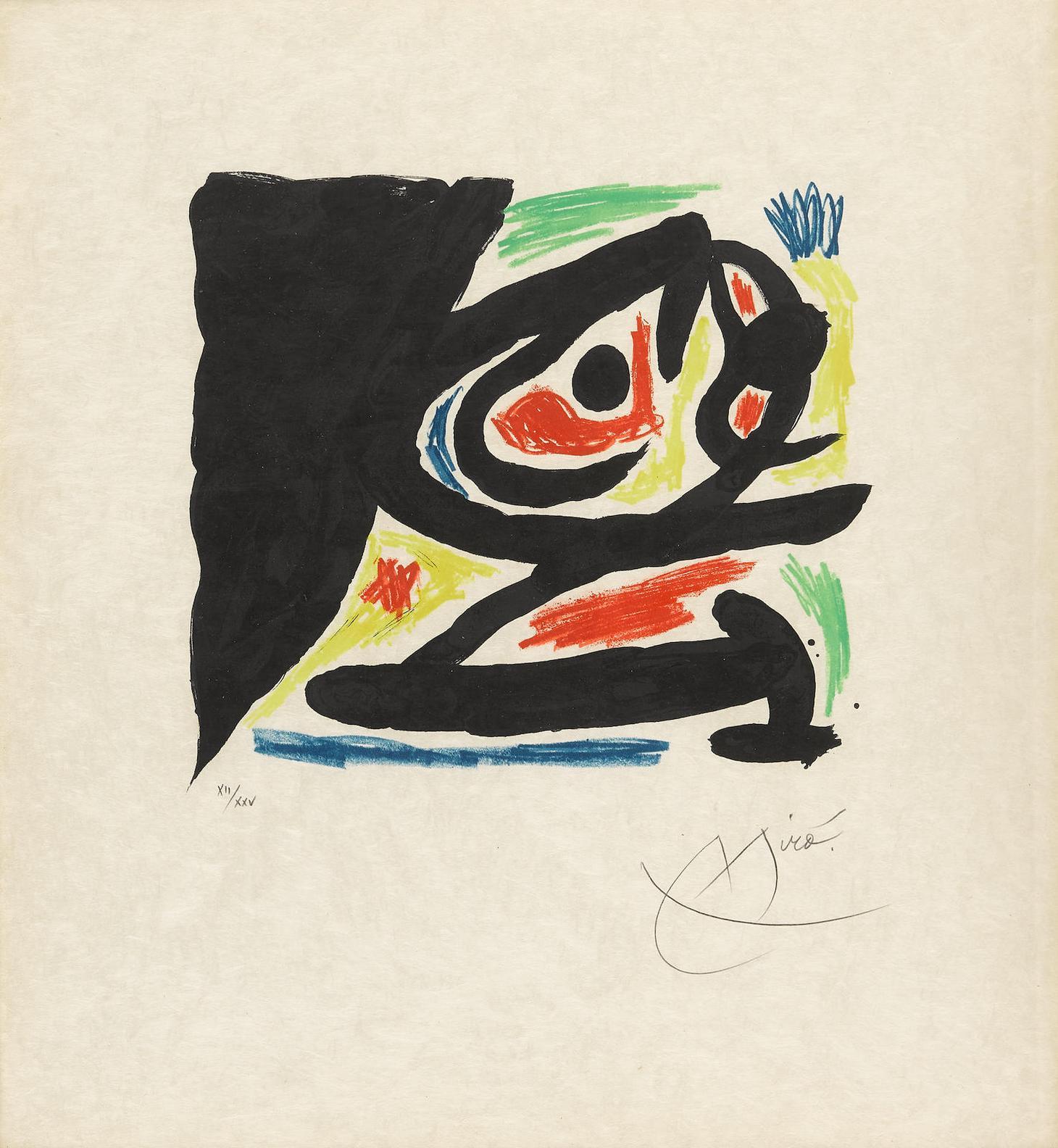 Joan Miro-Maitres-Graveurs Contemporains, One Plate (M. 682)-1970