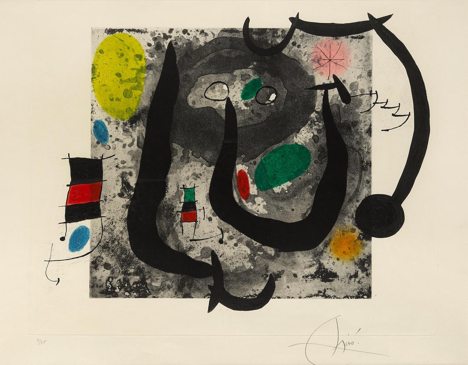 Joan Miro-Les Armes Du Sommeil (D. 533)-1970