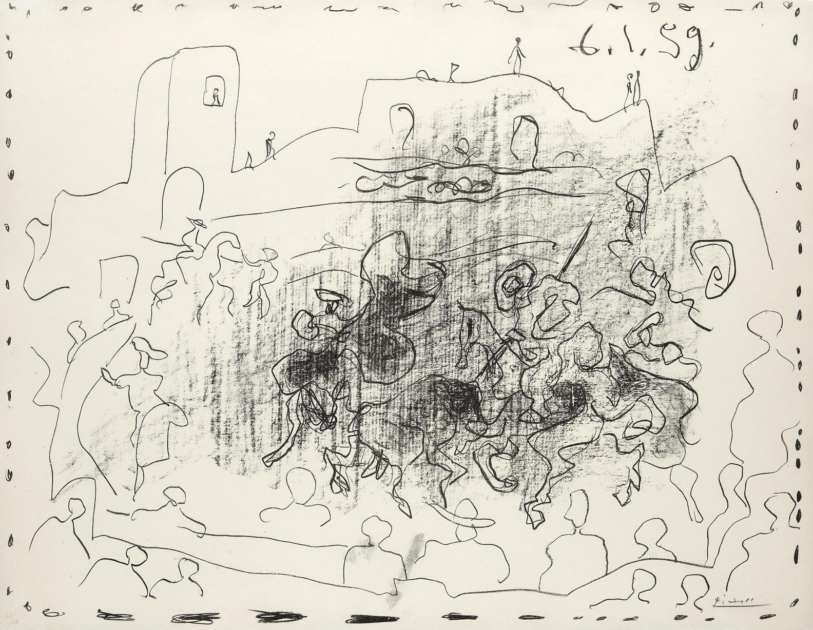 Pablo Picasso-La Pique (B. 868, M. 315)-1959