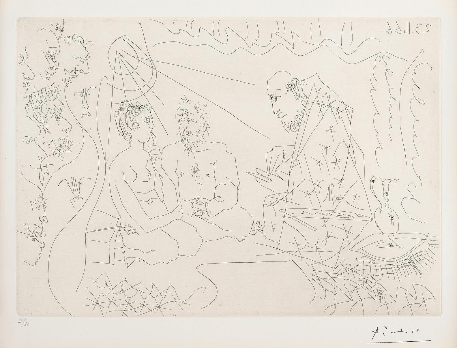 Pablo Picasso-Untitled (B. 1425)-1966