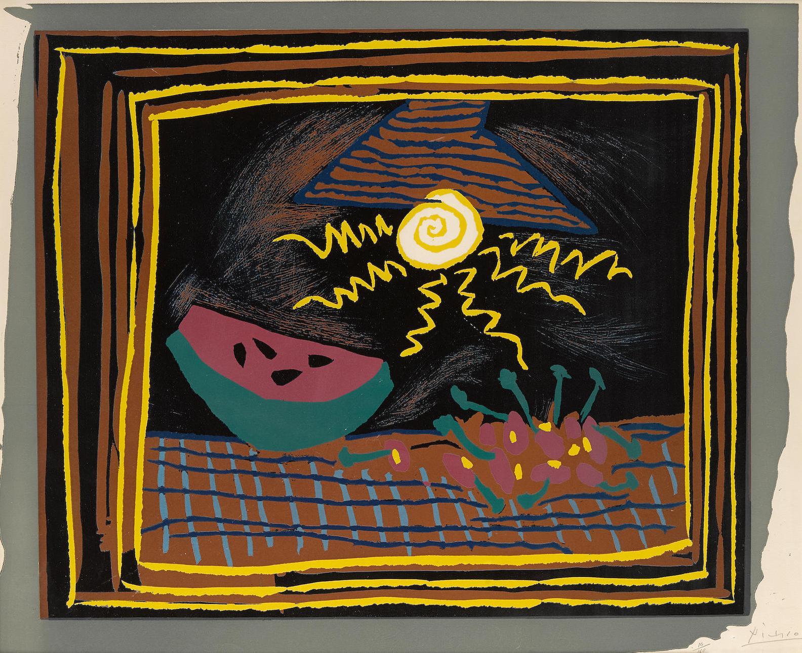 Pablo Picasso-Nature Morte A La Pasteque (B. 1098)-1962
