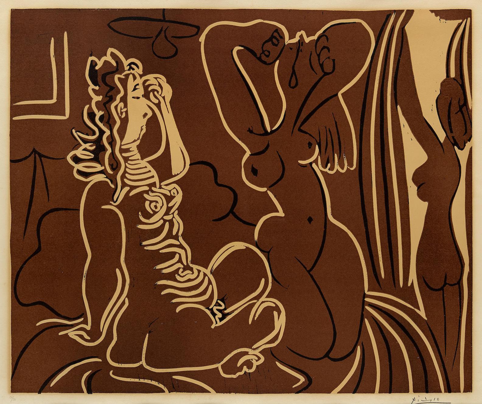 Pablo Picasso-Trois Femmes Au Reveil (B. 926)-1959