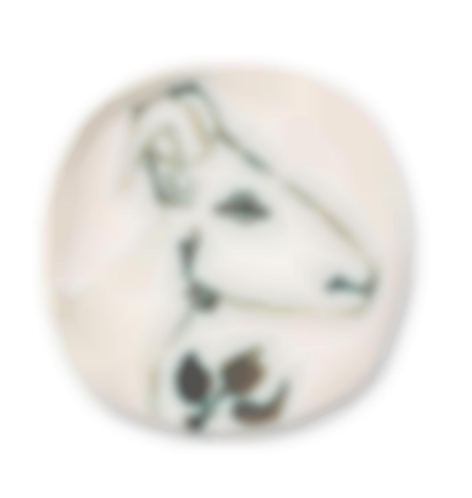 Pablo Picasso-Goats Head In Profile (A.R.106)-1950