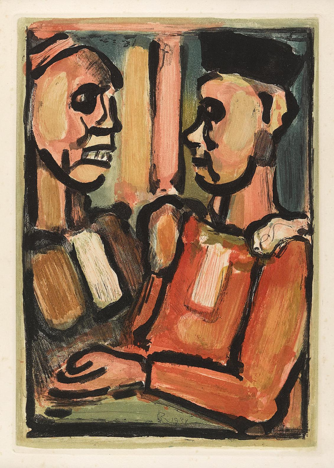 Georges Rouault-Juges, From Les Fleurs Du Mal (C./R. 279)-1938