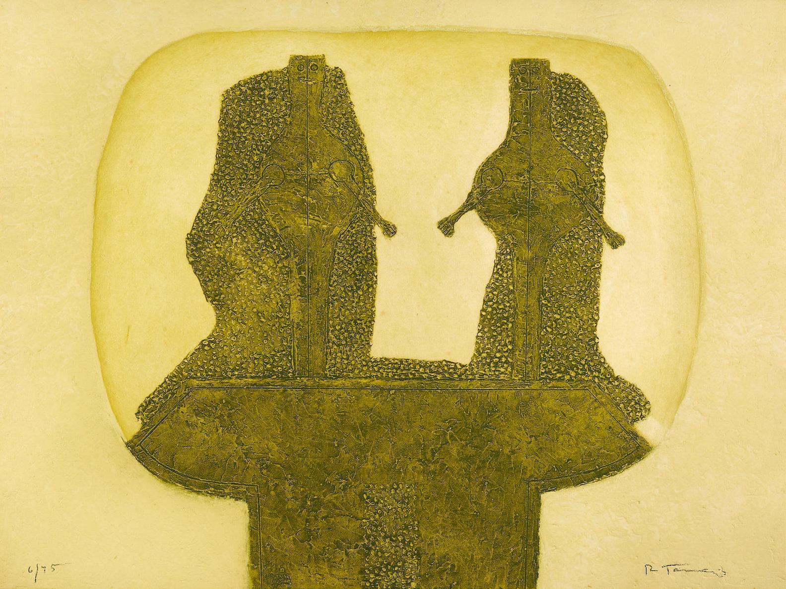 Rufino Tamayo-Dos Figuras, From Rufino Tamayo 16 Aguafuertes (P. 205)-1976