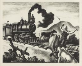 Thomas Hart Benton-Slow Train Through Arkansas (F.46)-1941