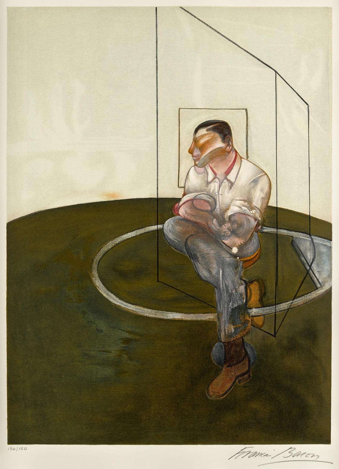 Francis Bacon-Three Studies For A Portrait Of John Edwards (Right Panel) (S. 20)-1986