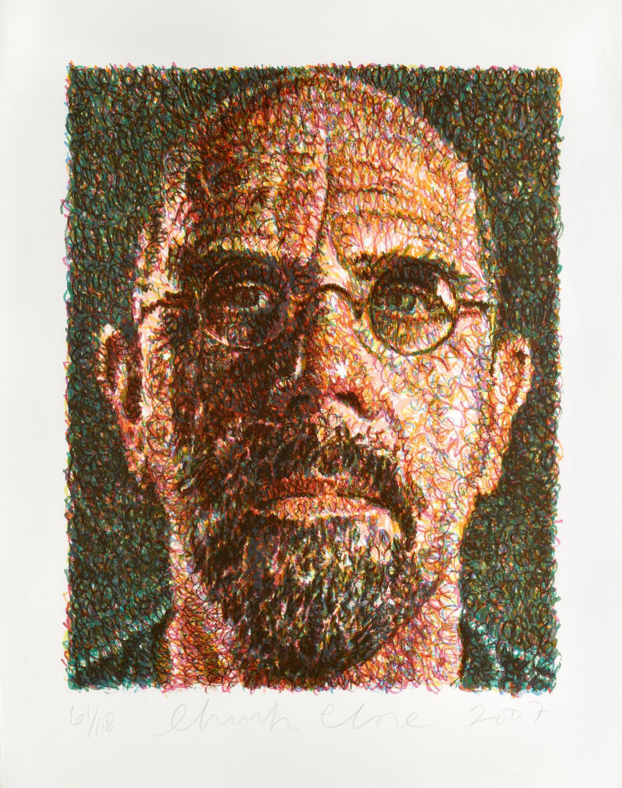 Chuck Close-Self Portrait-2007