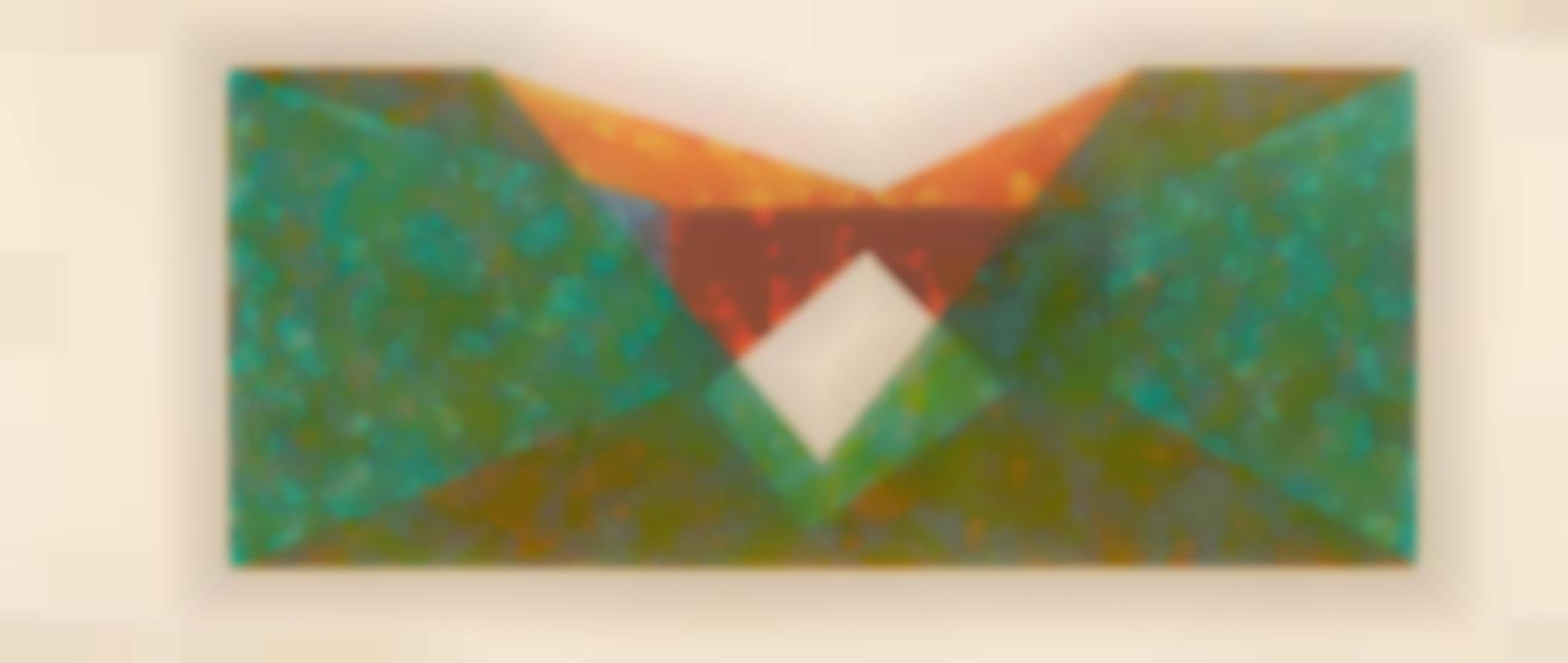 Ron Davis-Triangle Slice; Two Circle, From Rectangle Series-1971