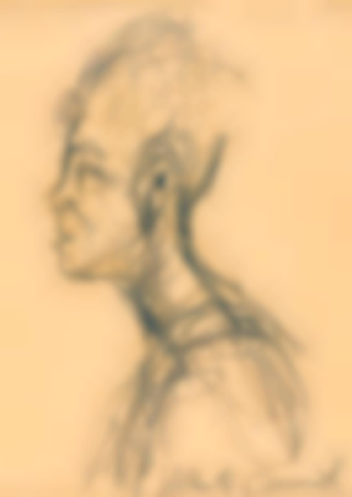 Alberto Giacometti-Portait De Caroline (Recto); Vue Dune Rue (Verso)-1962