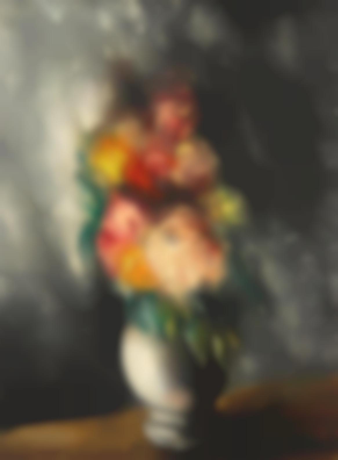 Maurice de Vlaminck-Bouquet De Dahlias-
