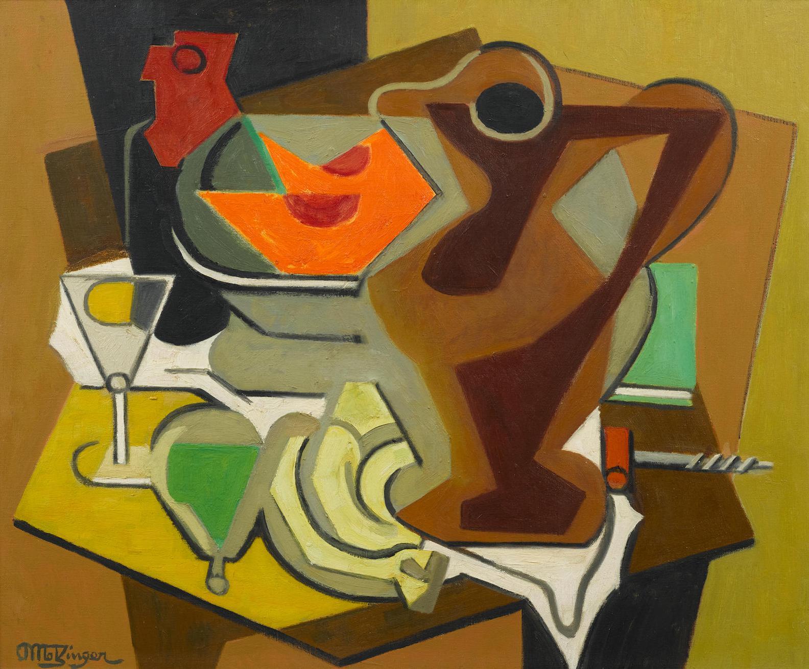 Jean Metzinger-Pichet, Fruits Et Tire-Bouchon-1956