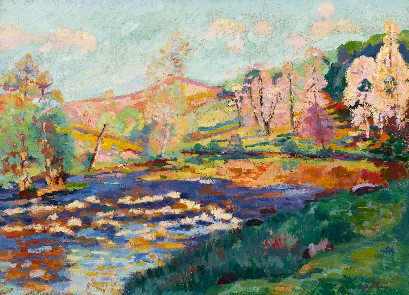 Jean-Baptiste Armand Guillaumin-Paysage Orange-
