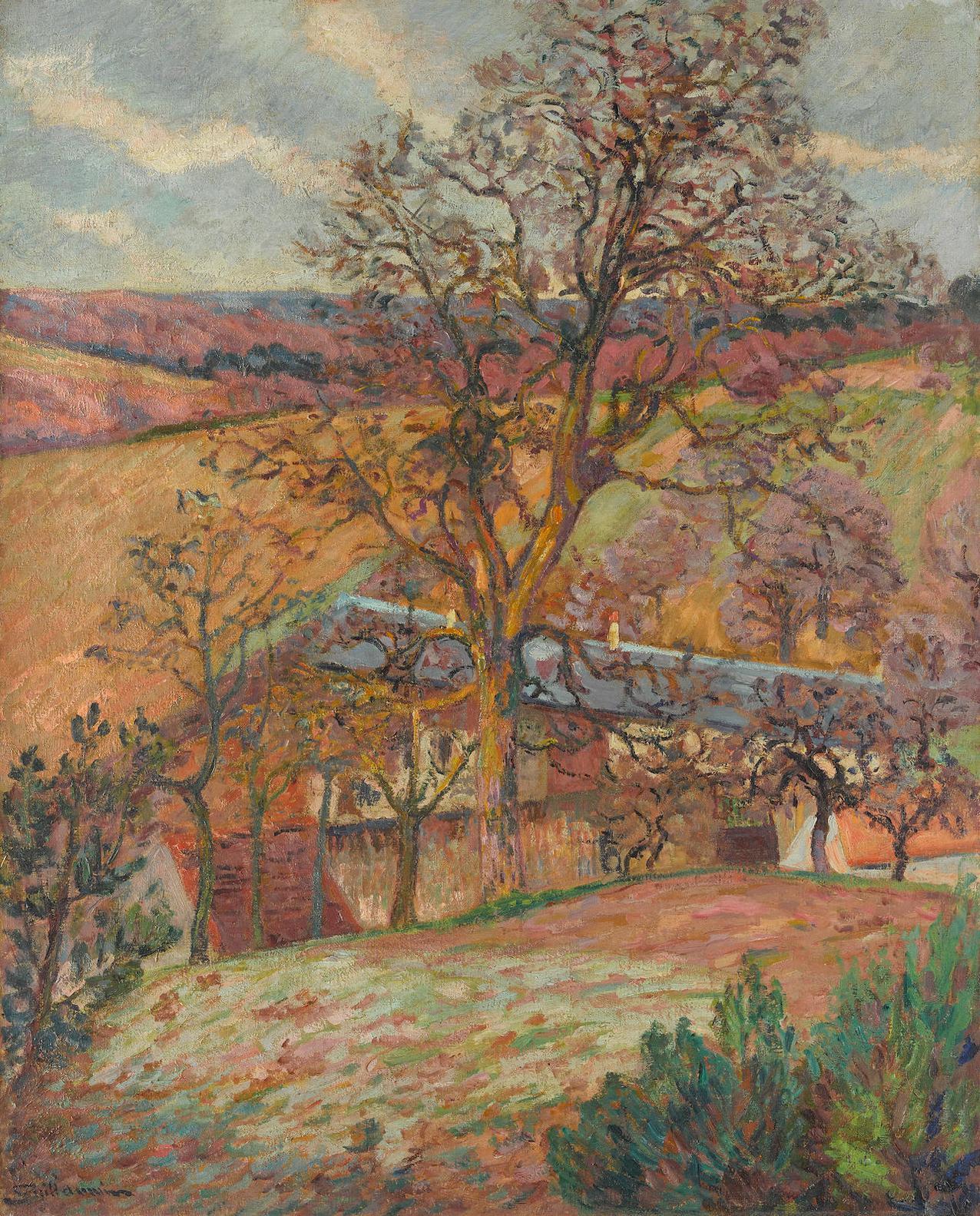 Jean-Baptiste Armand Guillaumin-Ferme Et Arbres A Saint-Cheron-1893