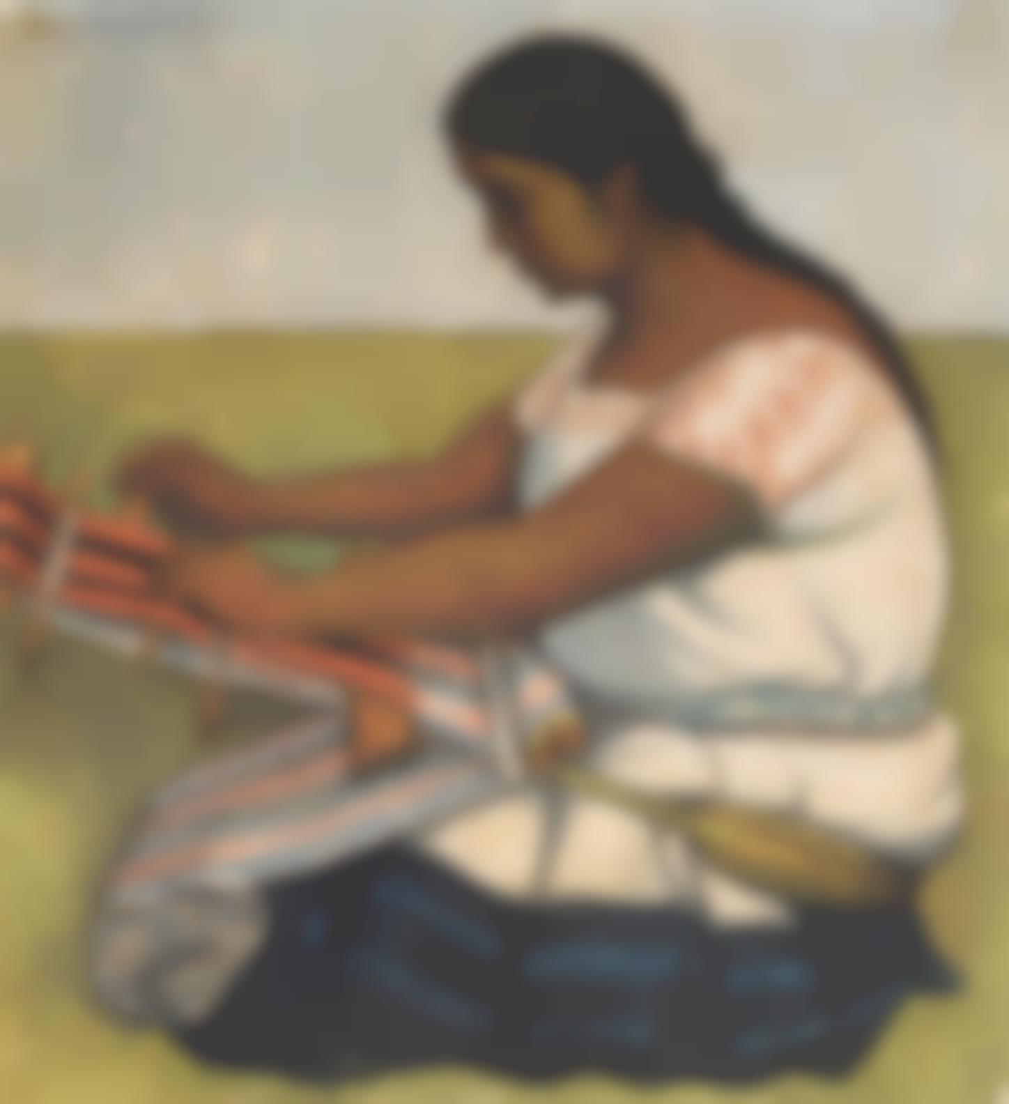 Diego Rivera-Hilando (La Tejedora)-1936