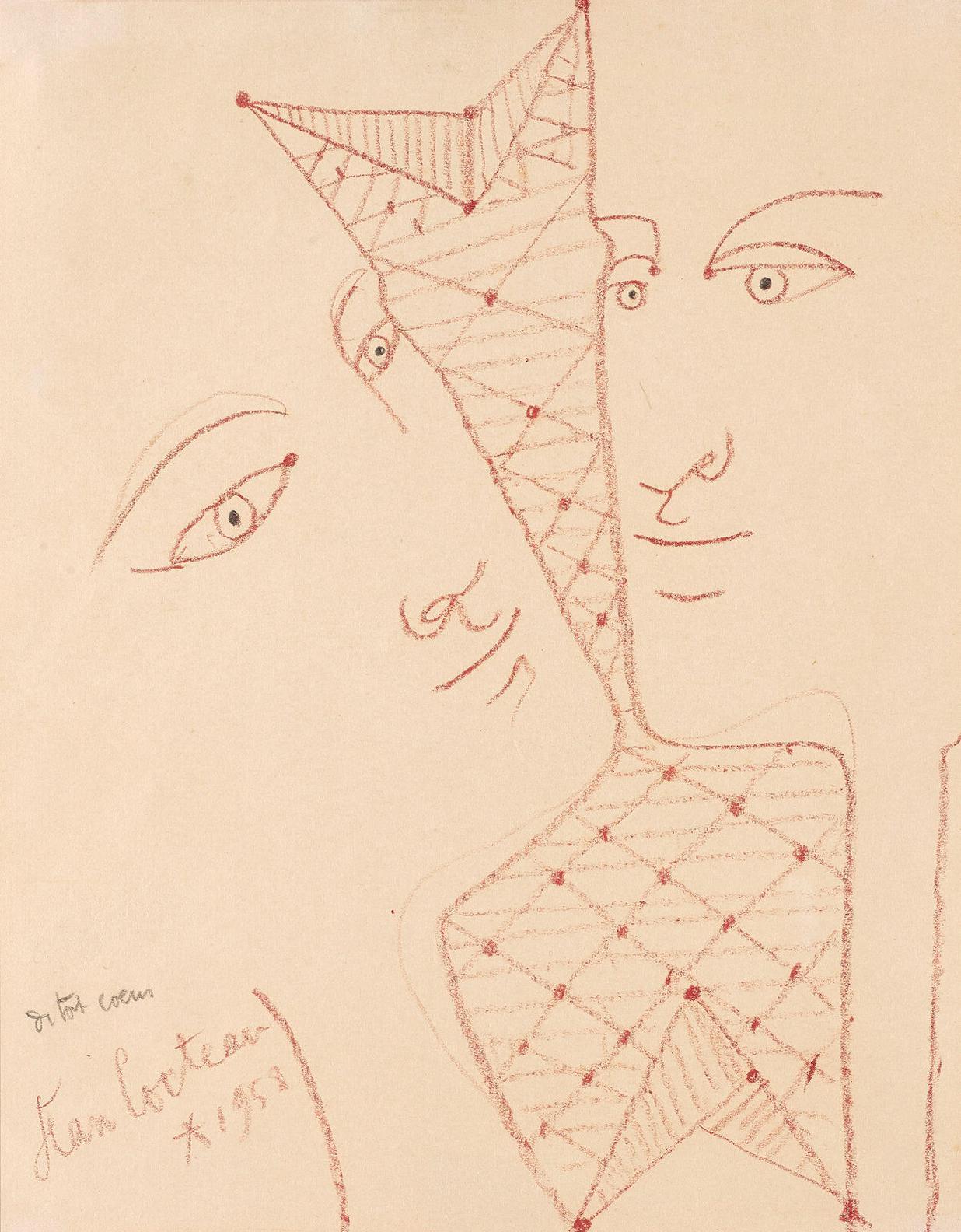 Jean Cocteau-Deux Visages-1959