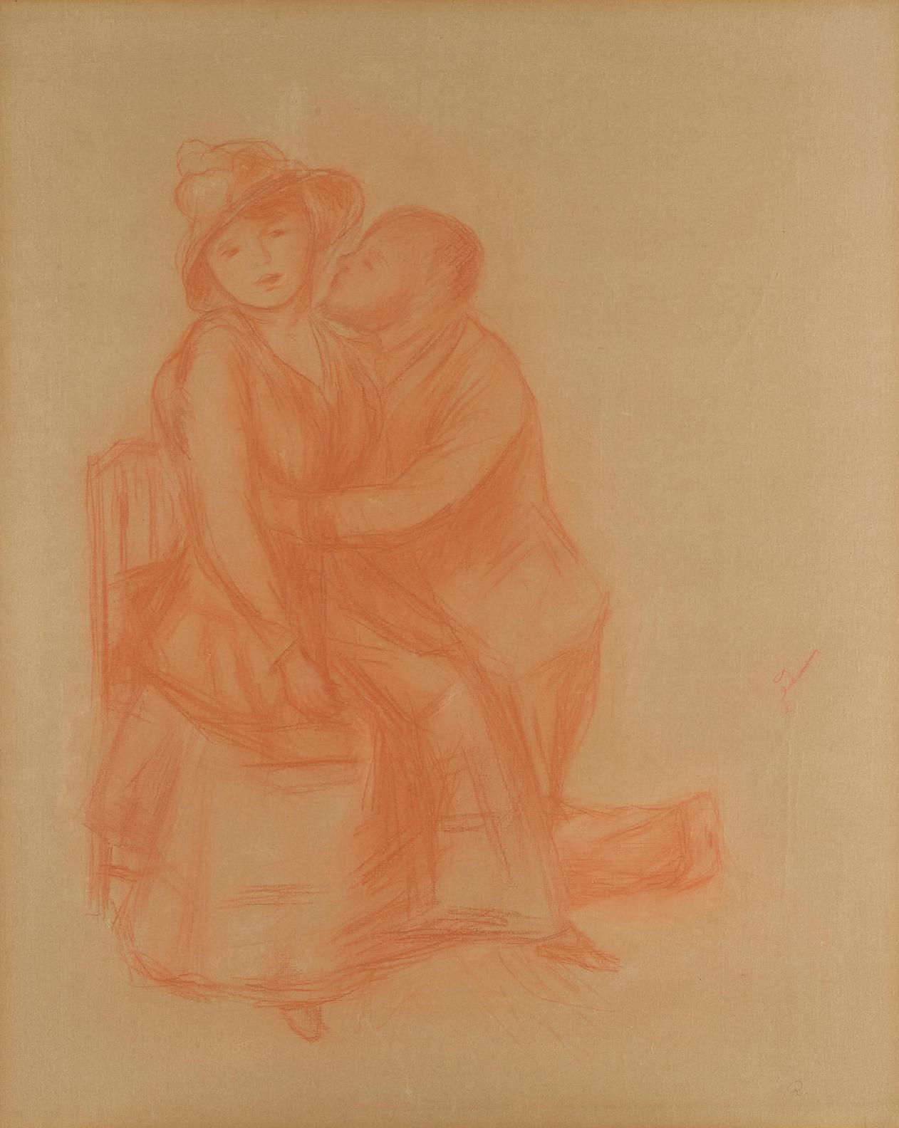 Pierre-Auguste Renoir-Les Amoureux, Aline Charigot Et Henri Laurent-1885