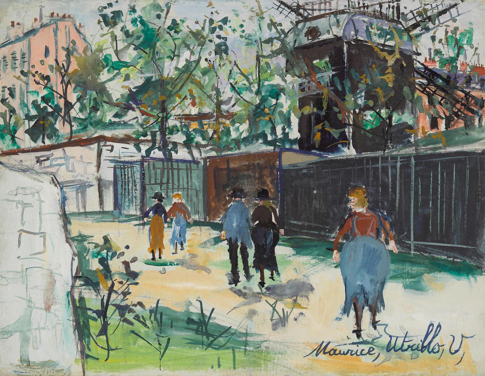 Maurice Utrillo-Le Moulin De La Galette-1930