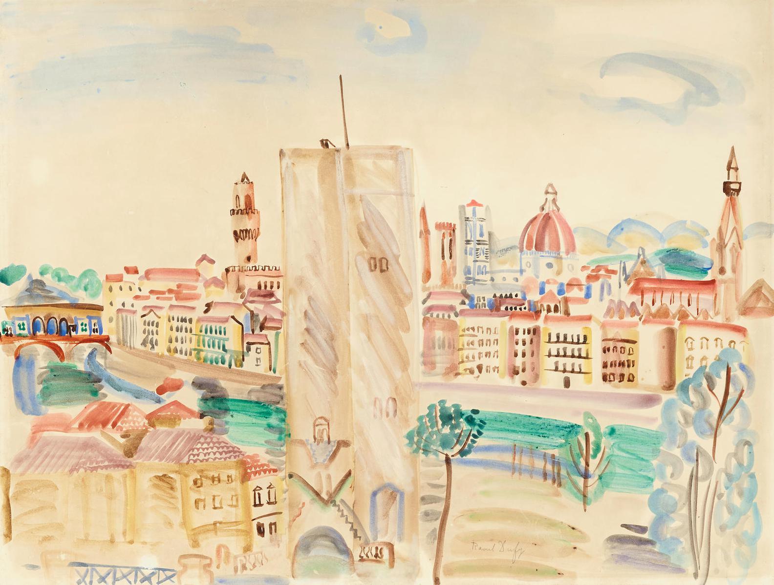 Raoul Dufy-Vue Panoramique De Florence-1922